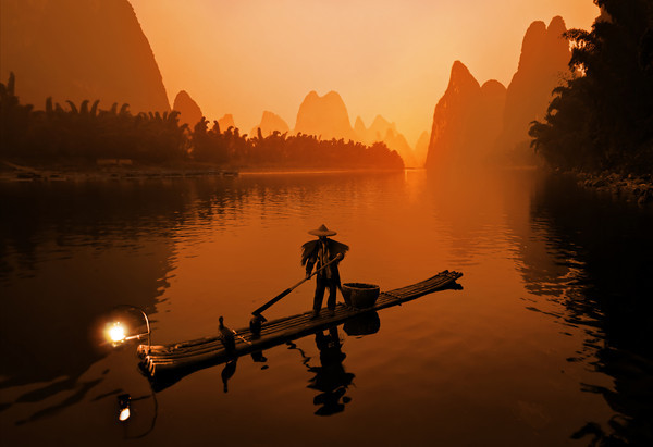Warm Fisherman in Guilin-M